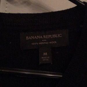 Banana Republic Tops - Banana Republic Black Merino Wool M Top